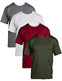 Fruit of the Loom Mens 4Pack Assorted Pocket Crewneck...