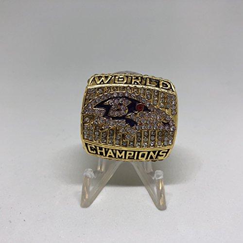Baltimore Ravens 2000 Super Bowl - 2000 Baltimore Ravens High Quality Replica 2000 Super Bowl XXXV Championship Ring Size 11-Gold Colored US SHIPPING
