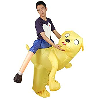 Amazon.com: Inflatable Dog Costume Cosplay Ride on Dog
