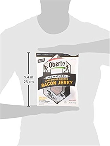 Oberto All Natural Applewood Smoked Bacon Jerky, 2.5 Ounce