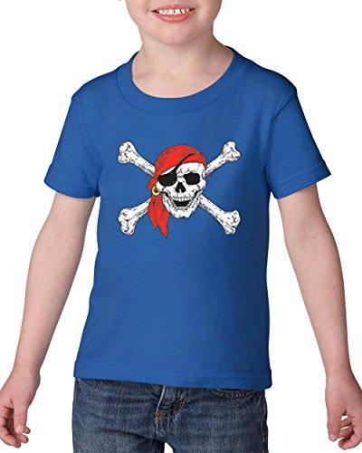 NIB Pirate Birthday Party Halloween Costume Idea Jolly Roger Skull Crossbones Heavy Cotton Toddler Kids T-Shirt (Halloween Costumes Ideas Toddlers)