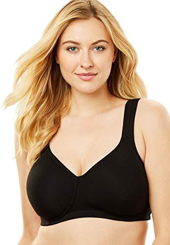 Comfort Choice Women's Plus Size Cotton Wireless T-Shirt Bra