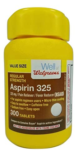 Walgreens Aspirin 325 mg Tablets, 300 ea