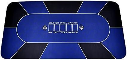 Trademark Poker Texas Holdem Table Layout Rubber Foam Blue 70 Inch