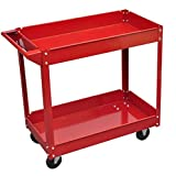 SKB Family Workshop Tool Trolley 220 lbs. Red Heavy Duty Garage Storage Rolling Cart
