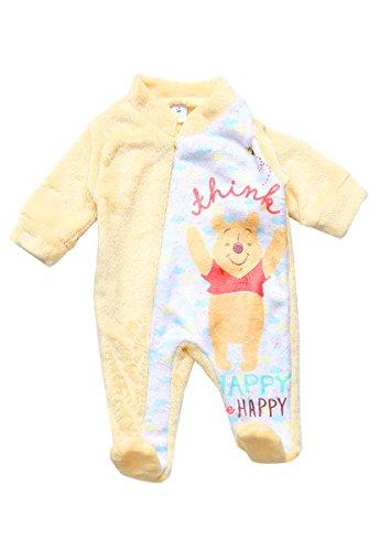 Baby Kiss Mameluco Winnie Pooh Amarillo Mameluco para Niños Amarillo Talla 6 M