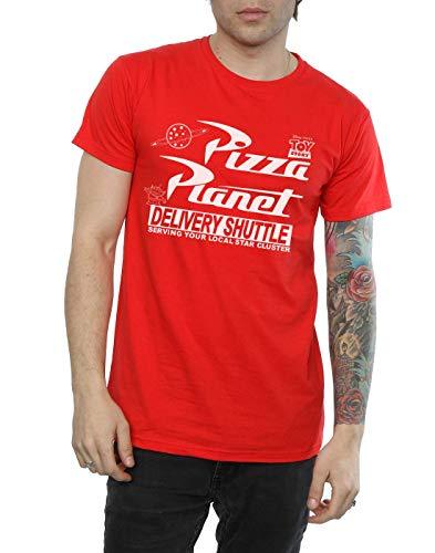Disney hombre Toy Story Pizza Planet Logo Camiseta