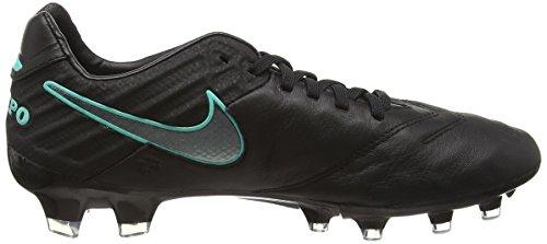 Nike Tiempo Legacy II FG, Botas de Fútbol para Hombre Negro (Black / Black)