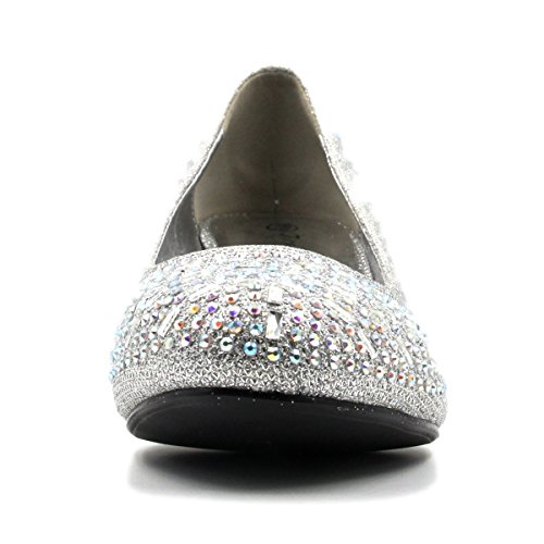 c74a14b841f0 Bella Hanna Women Party Shoe Close Toe Chunky Heel Rhinestone Gloria 80%OFF