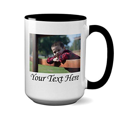 Custom Photo Coffee Mug - (15 Ounce Photo Mug)