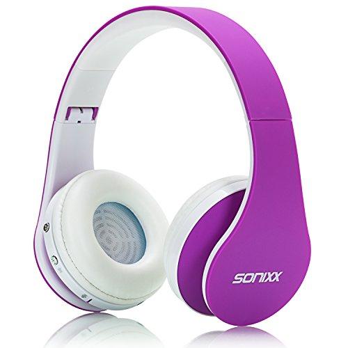 Sonixx BTX1 Bluetooth Headphones Purple product image