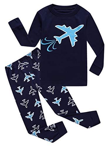 Plane Little Boy Pajama for Kids 100% Cotton Pjs Size 5 ()
