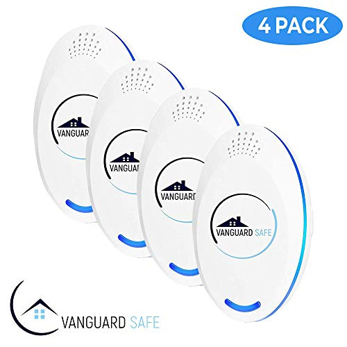 2019 UPGRADED (4 PACK) Ultrasonic Pest Repeller - Electronic & Ultrasound, Indoor Plug-in Repellers   Anti Mice, Bugs, Insects, Rats, Rodents, Roaches, Mosquitos, Spiders
