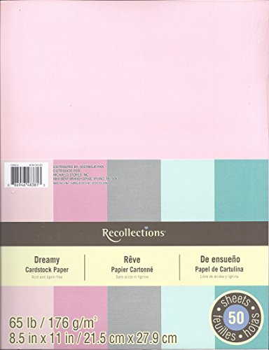 Recollections Cardstock Paper, 8 1/2'' x 11'' Dreamy - 50 Sheets by Recollections