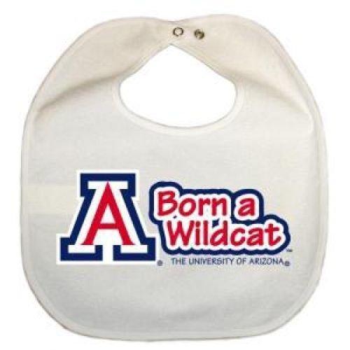 All White Kid n Me Arizona Wildcats Newborn Vinyl Snap Bib