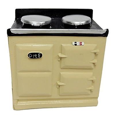 Melody Jane Dollhouse 2 Oven Cream Aga Stove 1:12 Miniature Kitchen Furniture: Toys & Games