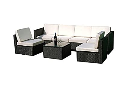 Amazon.com : MCombo 6085-S1007 7 Piece Wicker Patio Sectional Indoor ...