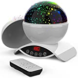 Foreita Remote Control Chargeable Night Light Rotation Star Projector Lamp, 8 Colour Dimmable Combinations Romantic Starry Sky Best Gift for Children Kids Festival Baby Bedroom Bed Decor Living Room
