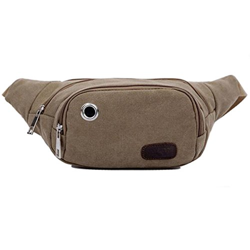 aomagic-leisure-outdoor-sports-bag-canvas-waist-pocket-fanny-pack-khaki