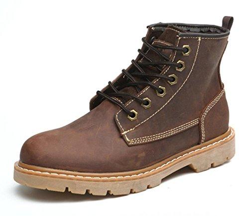botas de señora de primavera y otoño Sra Martin botas casuales zapatos elevadores deep brown