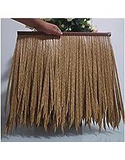 Artificial Thatch Tile, Fake Straw PE Palm Thatch Anti-Aging Flame Retardant Simulated Thatch, 5 Colors (Color : D-6pcs, Size : 50x50cm)