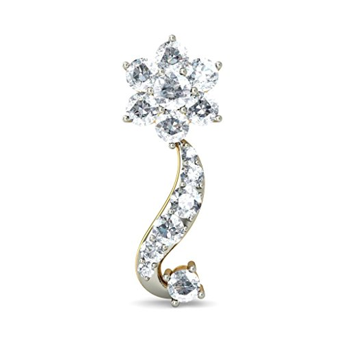 Or jaune 18 K 1.1 CT TW White-diamond (IJ | SI) Pendants d'oreilles