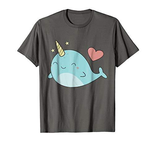 Cute Kawaii Love Narwhals T-Shirt