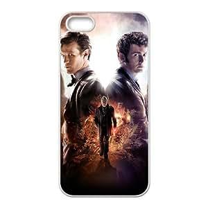 Doctor Who 50th Anniversary Funda iPhone 5 5s Funda Caja del teléfono celular blanco J1N7ST