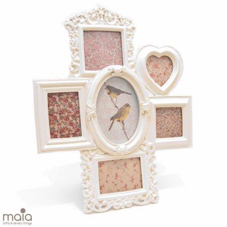 Classic cream Multi-Photo Frame | Sass & Belle: Amazon.co.uk ...