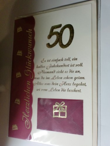 50 Geburtstag Geburtstagskarte Gluckwunschkarte Grusskarte