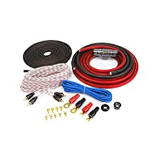 KnuKonceptz KCA Complete Red 4 Gauge Amplifier Installation Wiring Kit