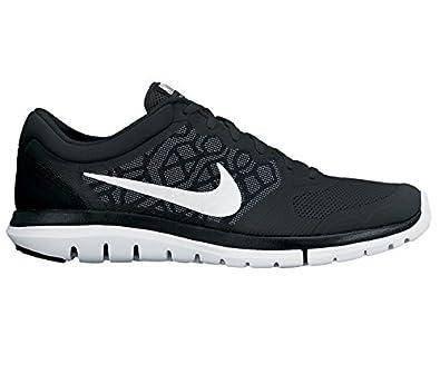 f420967e80e12 NIKE - Flex 2015 Men s Running Shoes (Black White) - EU 45