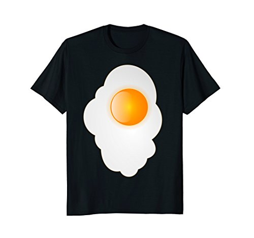 Mens Fried Egg last minute funny Halloween costume tshirt 2XL (Eggs And Bacon Costume Diy)