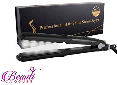 Professional Salon Steam Straightener Styler Iron Work