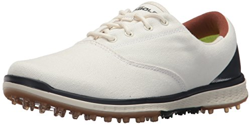 Golf Elite Canvas Golf Shoe,Natural/Navy,6 M US ()