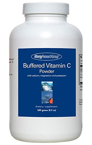 Allergy Research Group - Buffered Vitamin C Powder 240 g, Blue (Vitamin C Powder Buffered With Calcium And Magnesium)