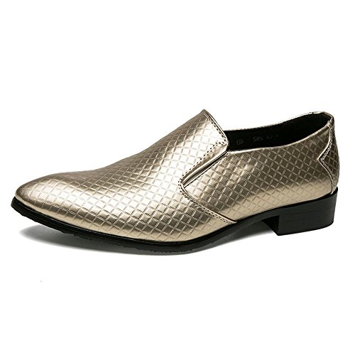 in Cricket Microfibra Scarpe Fashion Pelle in Formal da Scarpe Oxford Gold Classic Mens wqBtZ