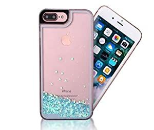 JAZ Super protection camera TPU Hard Transparent Liquid Case,Perfect Liquid Quicksand Moving Stars Bling Glitter Floating Luxury Bling Glitter Sparkle Case for iPhone7 iphone7plus
