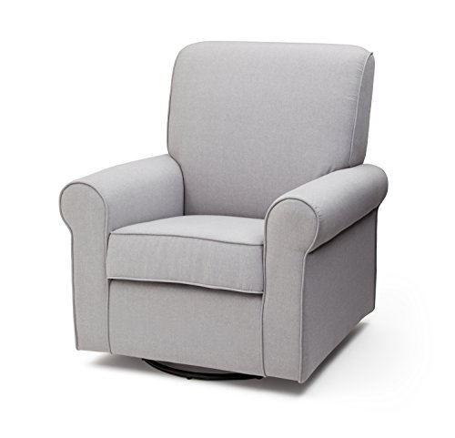 Delta Children Avery Upholstered Glider Swivel Rocker Chair, Heather Grey