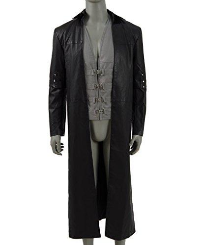 2017 Hot Movie Gunslinger Costume Long Coat and Vest Cosplay Outfit (US Men-L, Black)