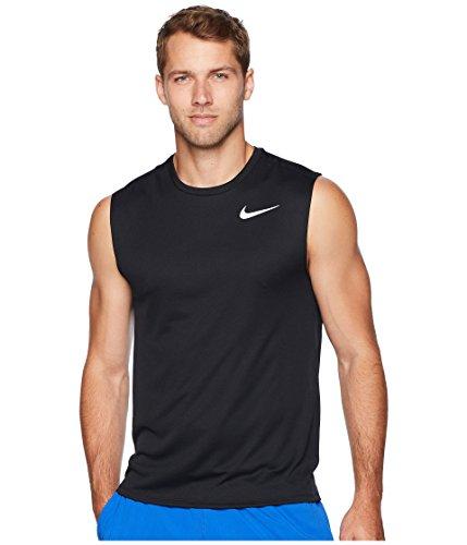 Nike Men's Sleeveless Running Top (L, Black)