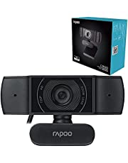 Rapoo C200 720p HD USB - 360 Degree Horizontal - 100 Degree Super Wide-Angle Webcam with Microphone for Live Broadcast Video Calling Conference - Black