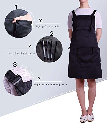 Nanxson Fashion Women Multi Function Working Work Apron with Tool Pockets CF3010 Black by Nanxson (Image #5)