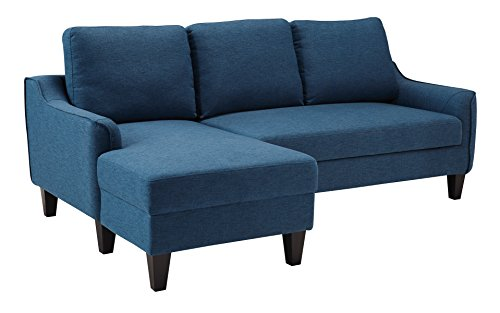 (Ashley Furniture Signature Design - Jarreau Contemporary Upholstered Sofa Chaise Sleeper - Blue)
