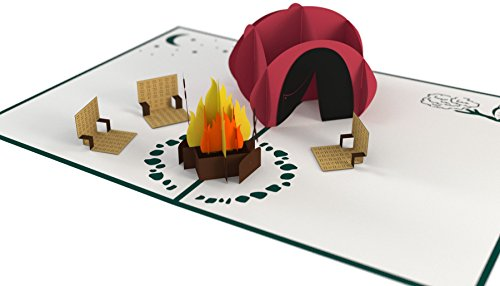Lovepop Camping Trip Pop Up Card, Father's Day Card, Pop Up Card, Greeting Cards Dad, 3D Card, Card For Dad, Happy Father's Day ()