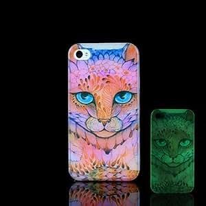 WQQ Funda Trasera - Gráficas/Diseño Especial/Fosforescente - para iPhone 4/4S Plástico )