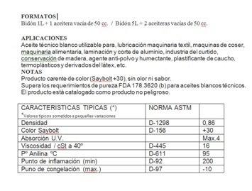 Aceite maquina de coser. Especial Incoloro - Lubricante para Maquinas de Coser y mecanismos varios. 5 Litros + 2 Aceiteras de 50cc. vacias: Amazon.es: ...