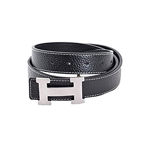 Fashion Leather Metal Buckle Unisex Belt Casual Business (1.5inch wide) by Losywery (Image #3)