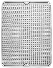 SUpoetry Afdruipmat Dish, Droogmat Afwas, Siliconen Vaatdroogmat, Siliconen Droogmat, Hittebestendig Tot 220°C/425°F, 40 x 30 cm