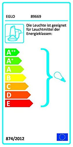 Eglo Bari 1 Innen Weiss E14 40 W Transparent Deckenbeleuchtung Lampe